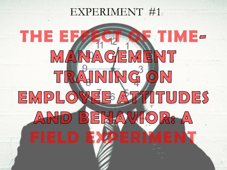 EXPERIMENT #1 :