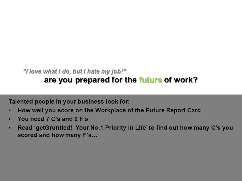 are you prepared for the future of work.
