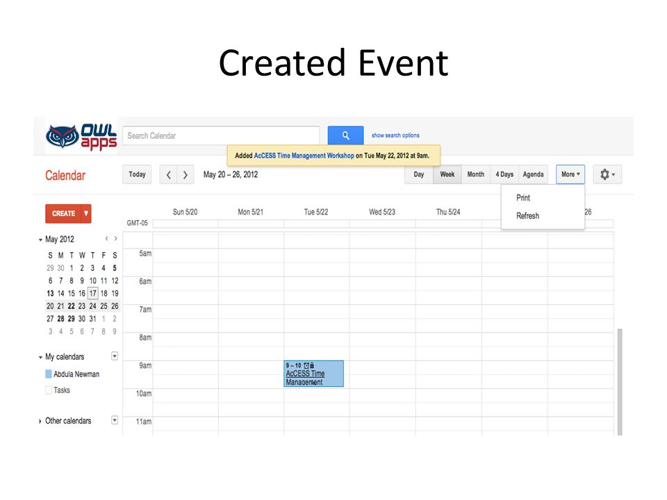 Created Event