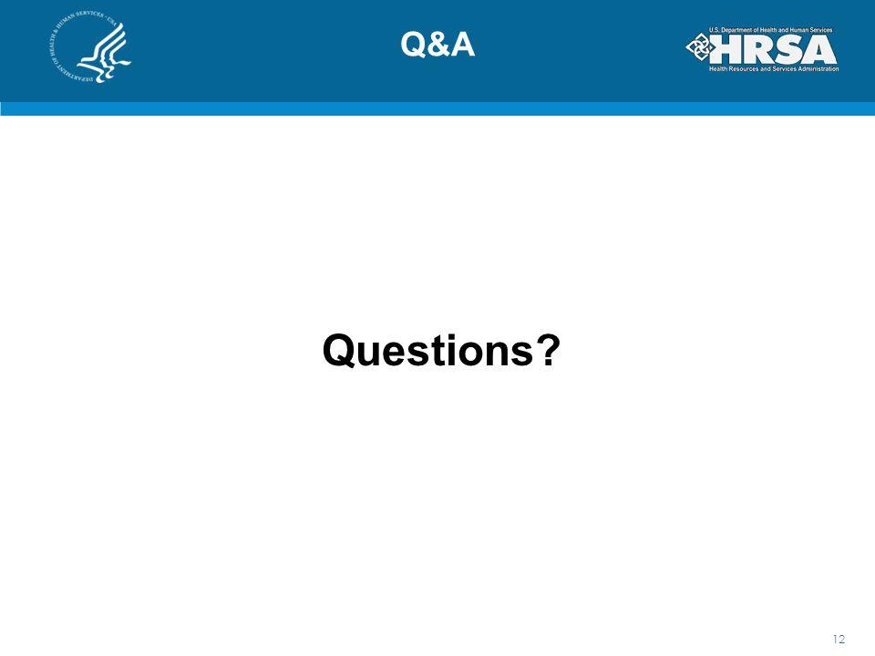 Q&A Questions 12