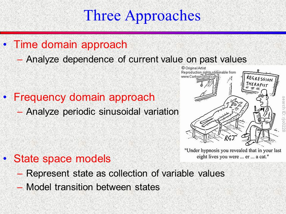 State Space Models Current situation represented as a state –Estimate state variables from noisy observations over time –Estimate transitions between states Kalman Filters –Similar to HMMs HMM models discrete variables Kalman filters models continuous variables