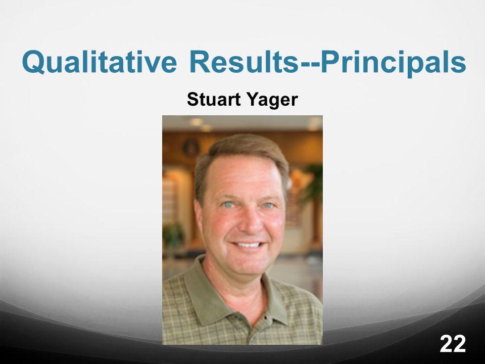 Qualitative Results--Principals Stuart Yager 22