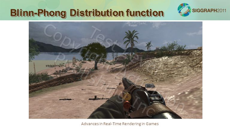 Advances in Real-Time Rendering in Games Blinn-Phong Distribution function