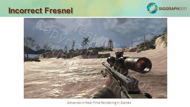 Advances in Real-Time Rendering in Games Incorrect Fresnel