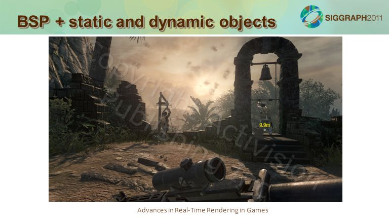 Advances in Real-Time Rendering in Games BSP + static and dynamic objects