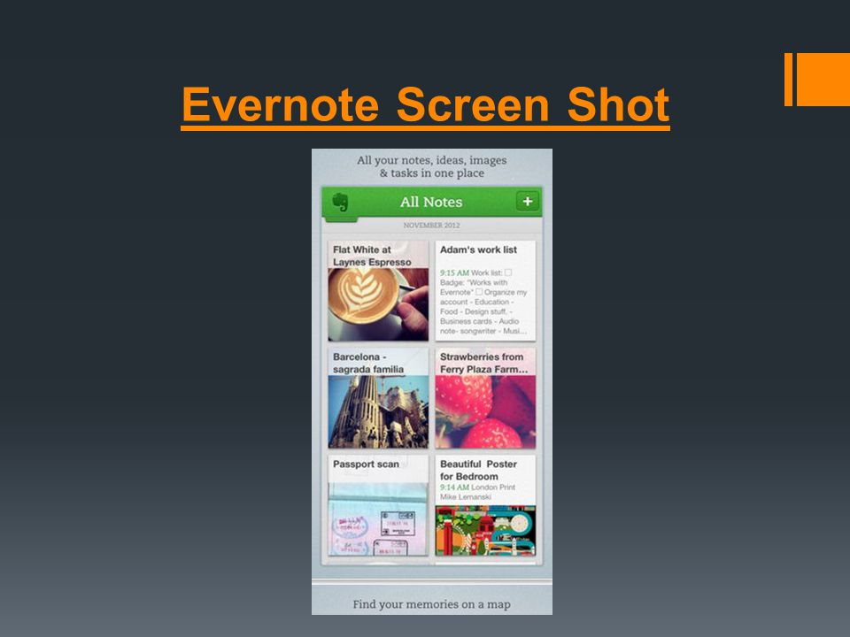 Evernote Screen Shot