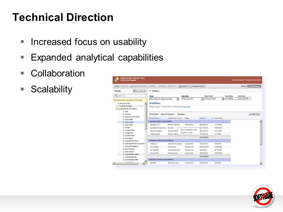 Technical Direction Increased focus on usability Expanded analytical capabilities Collaboration Scalability