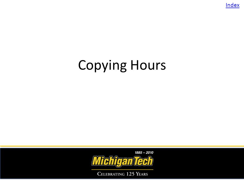 Copying Hours Index