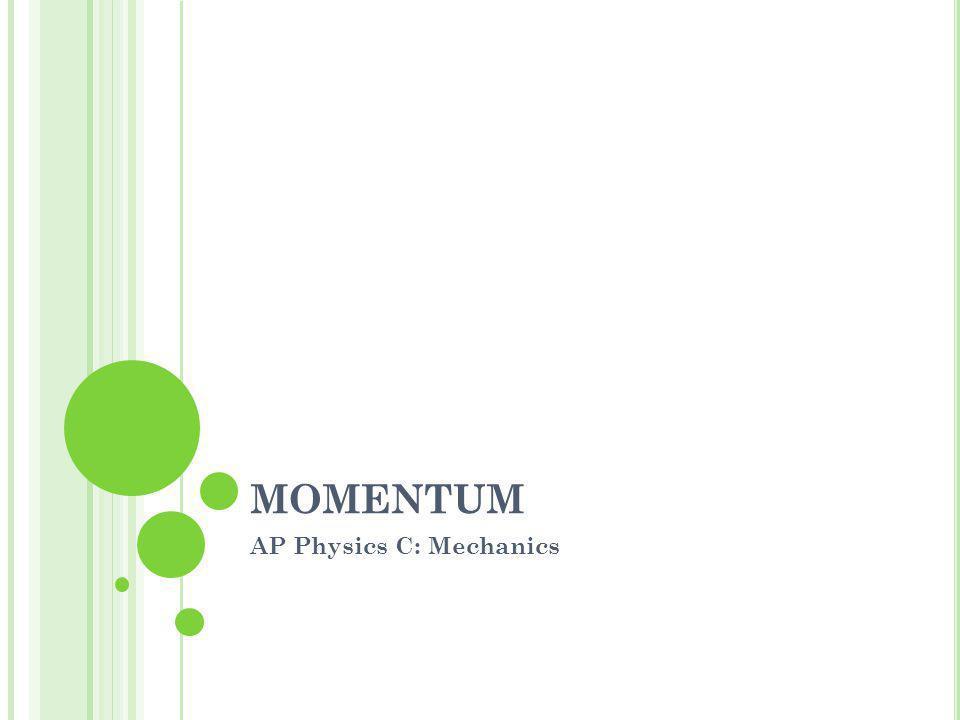 MOMENTUM AP Physics C: Mechanics