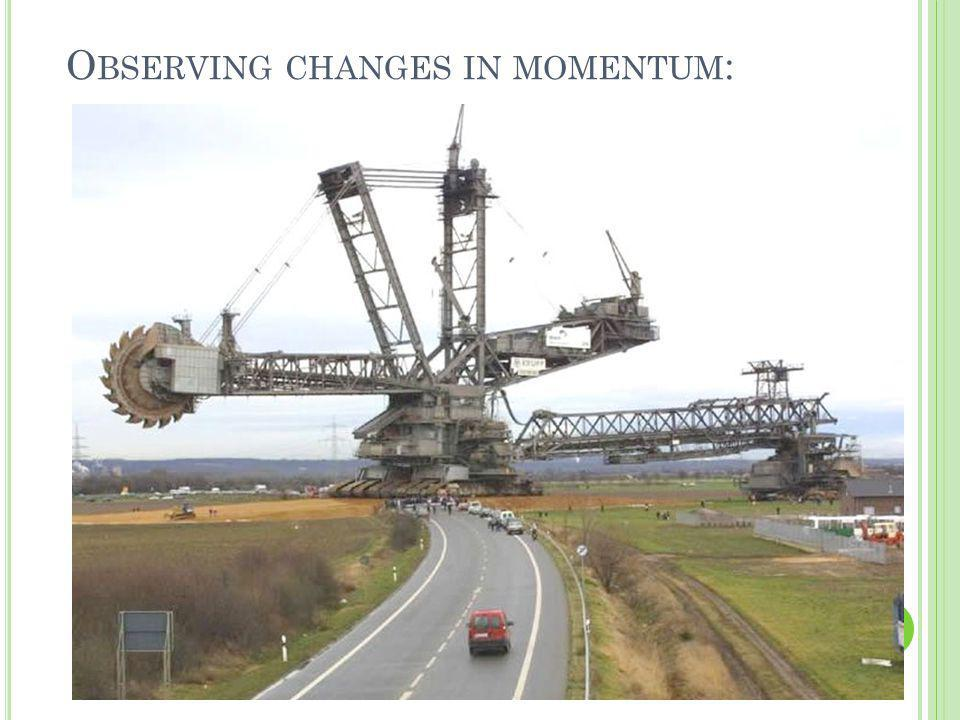O BSERVING CHANGES IN MOMENTUM :
