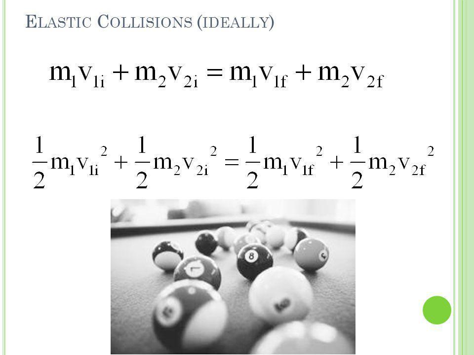 E LASTIC C OLLISIONS ( IDEALLY )
