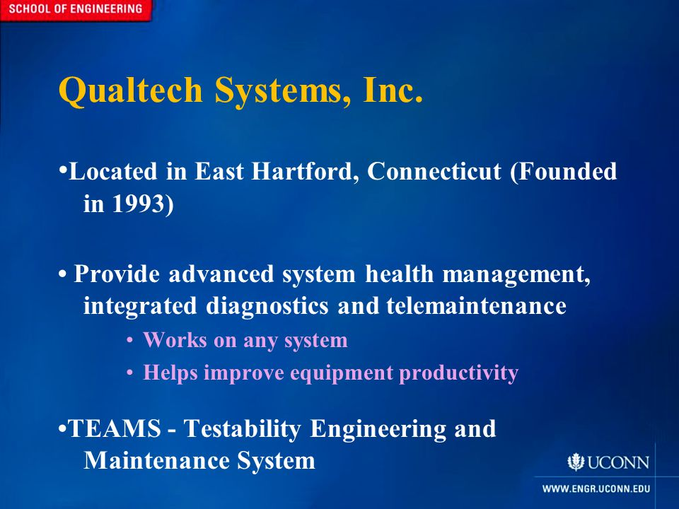 TEAMS Testability Engineering and Maintenance System Consists of Multiple Components Designer RDS o Remote Diagnostic Server RT o Real-Time Data Collection http://tomgpalmer.com/wp-content/uploads/legacy-images/FLASH%20LIGHT.jpg