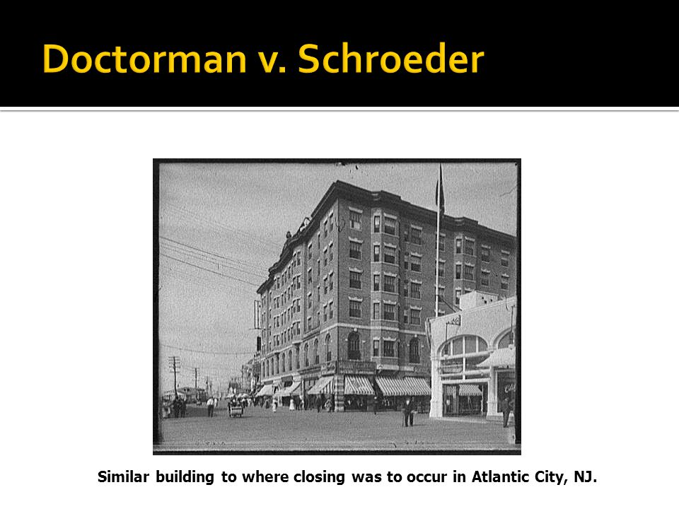 Similar building to where closing was to occur in Atlantic City, NJ.