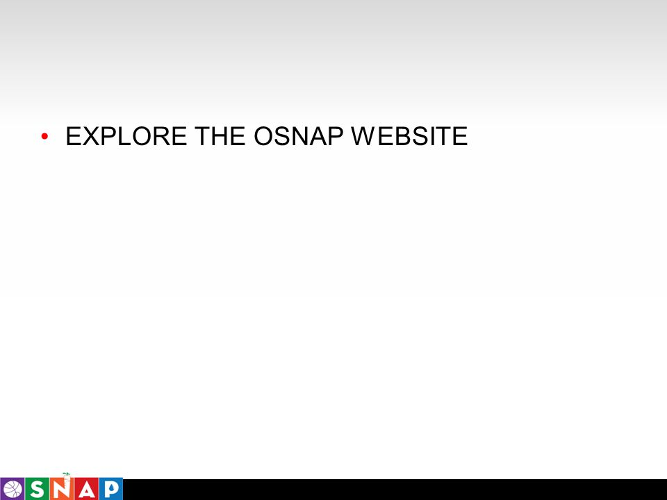 EXPLORE THE OSNAP WEBSITE
