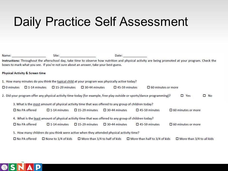Daily Practice Self Assessment