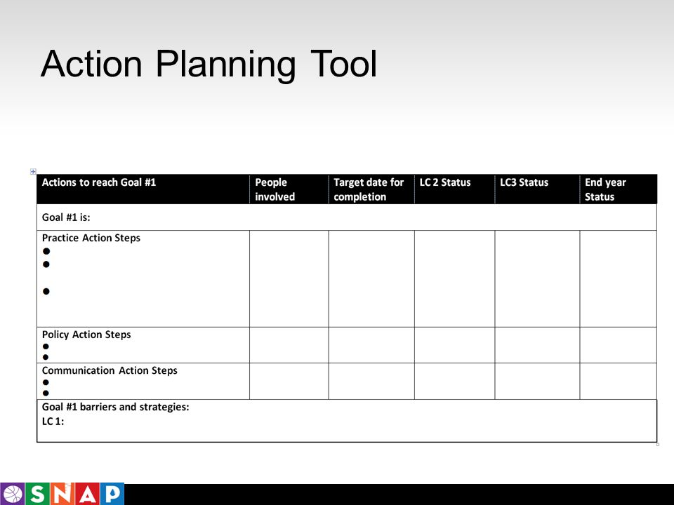 Action Planning Tool
