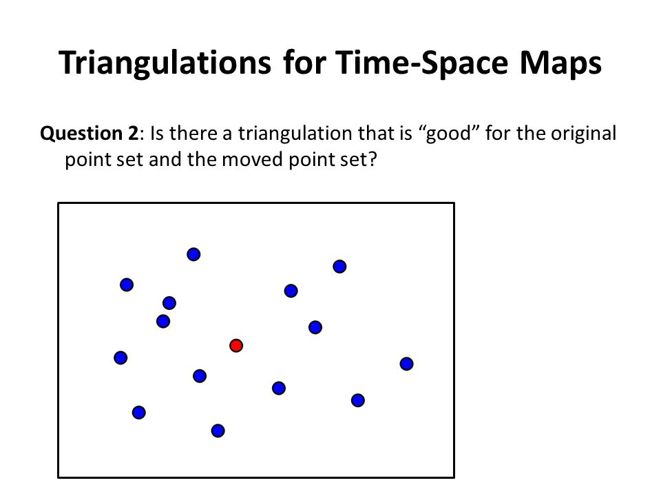 Triangulations for Time-Space Maps Question 2: Is there a triangulation that is good for the original point set and the moved point set.