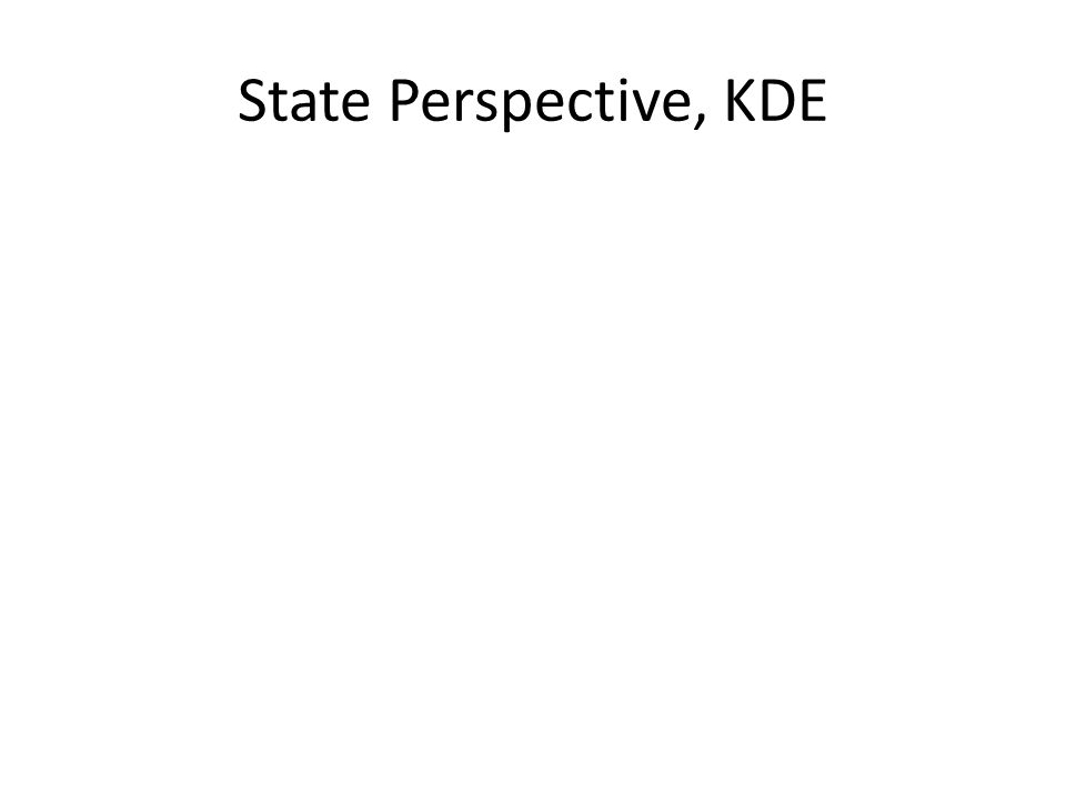 State Perspective, KDE