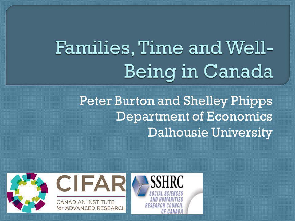 Peter Burton and Shelley Phipps Department of Economics Dalhousie University