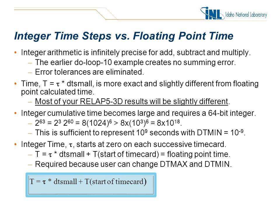 Integer Time Steps vs.