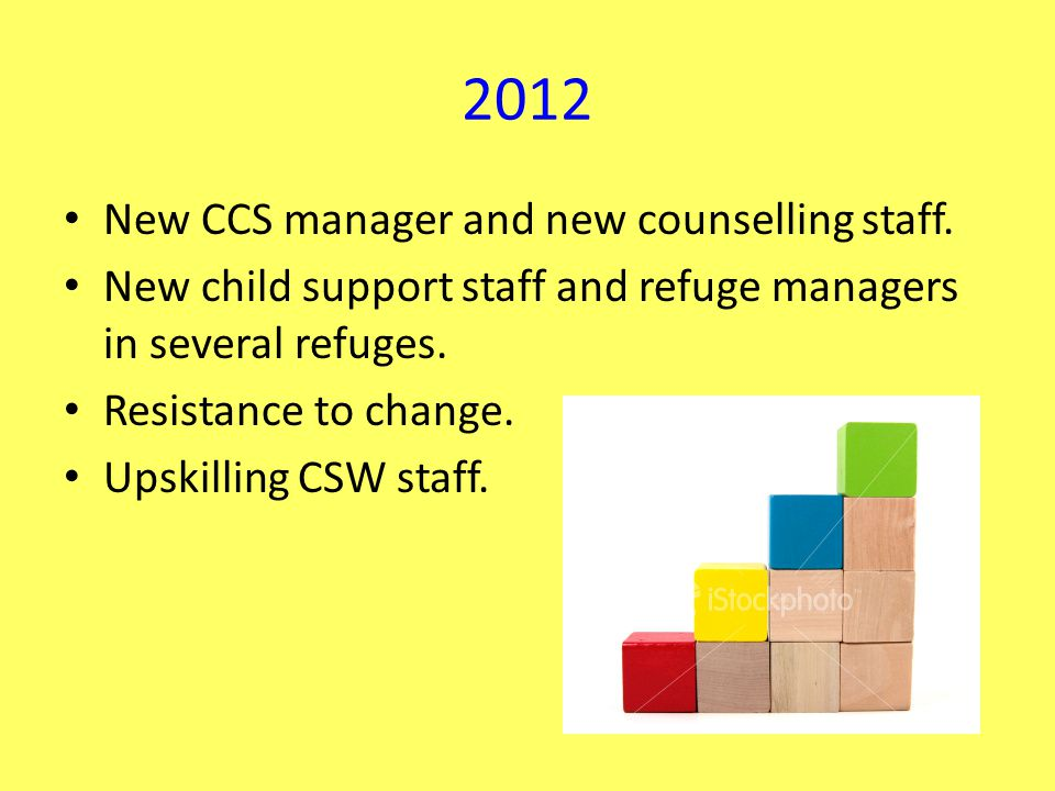 2012 New CCS manager and new counselling staff.