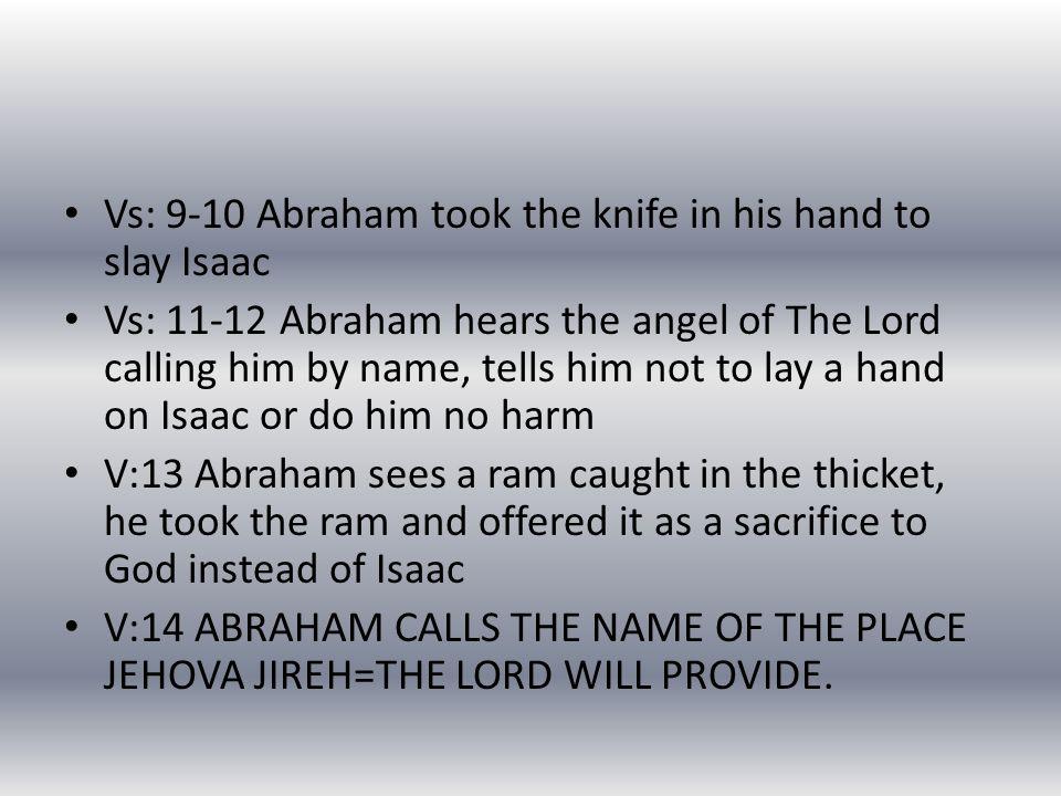 JEHOVA JIREH We know one of the Hebrew names of God so Jehova Jireh.