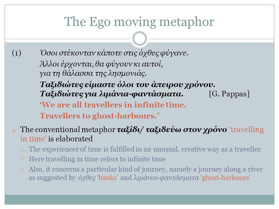 The Ego moving metaphor (1)Όσοι στέκονταν κάποτε στις όχθες φύγανε.
