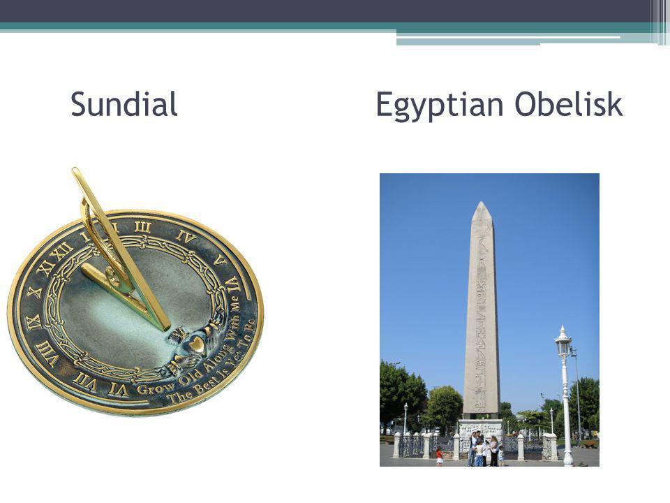 Sundial Egyptian Obelisk
