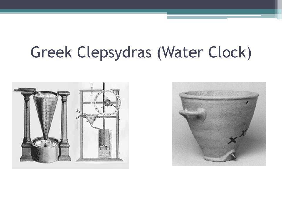 Greek Clepsydras (Water Clock)