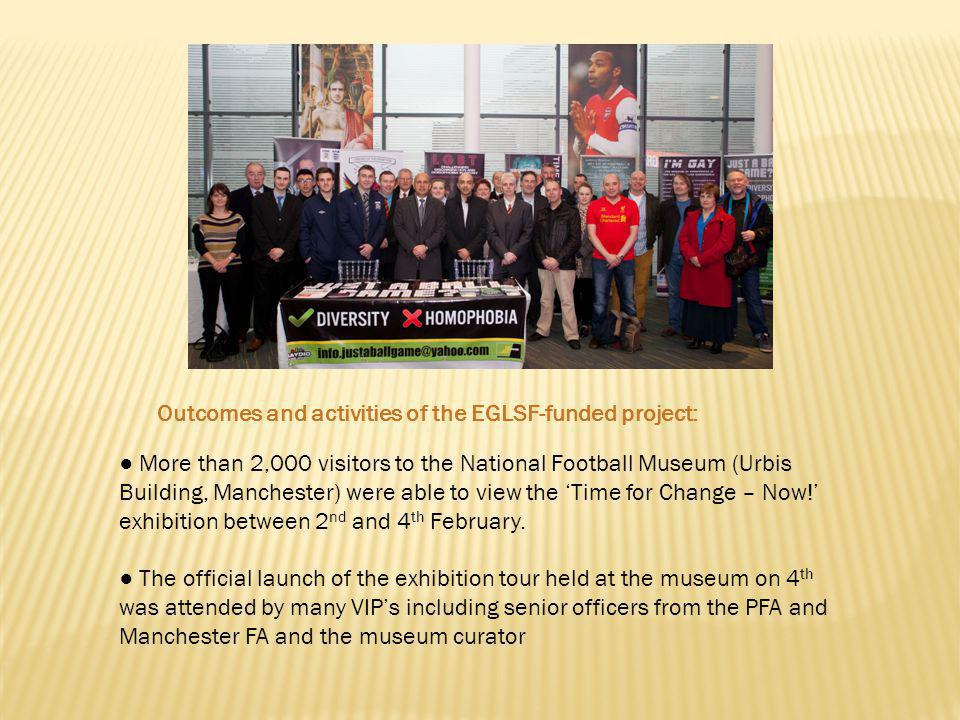 More than 2,000 visitors to the National Football Museum (Urbis Building, Manchester) were able to view the Time for Change – Now.