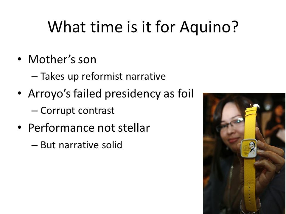 What time is it for Aquino.