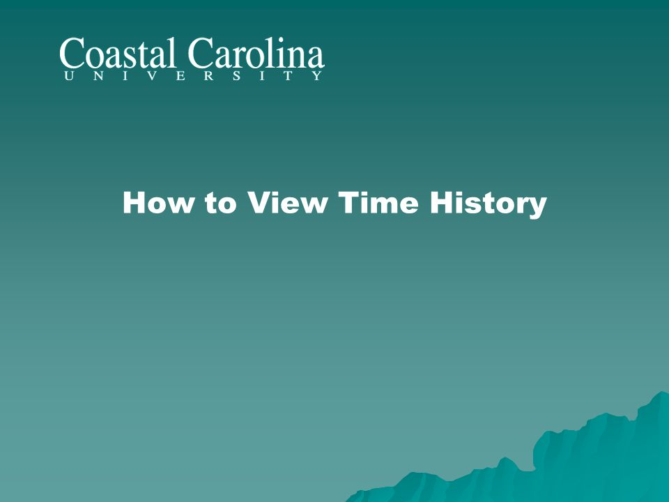 How to View Time History