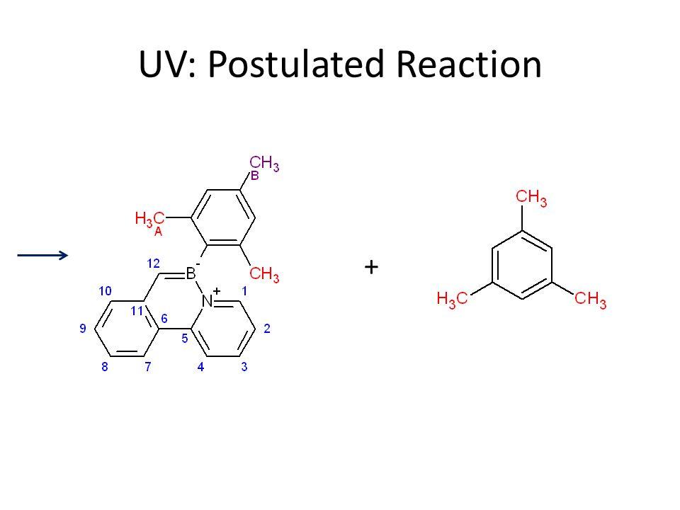 UV: Postulated Reaction +