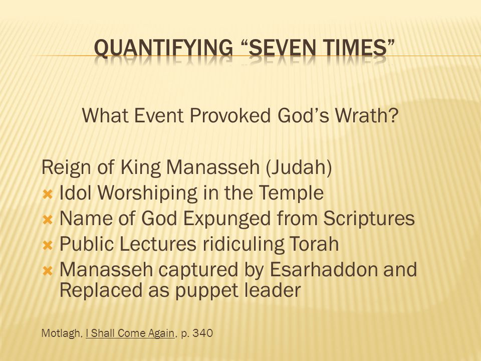 What Event Provoked Gods Wrath.