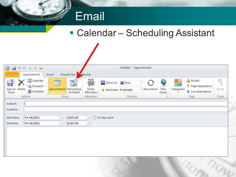 Company name Email Calendar – Scheduling Assistant