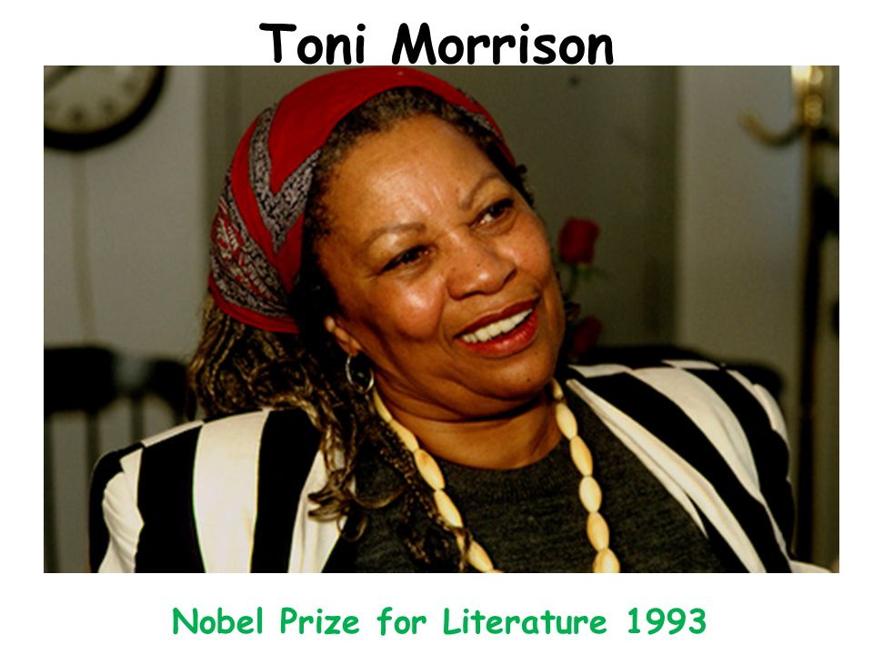 Toni Morrison Nobel Prize for Literature 1993