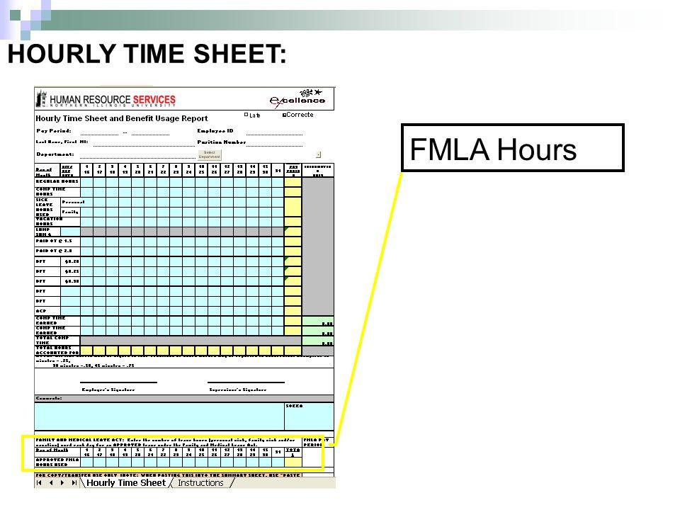 HOURLY TIME SHEET: FMLA Hours