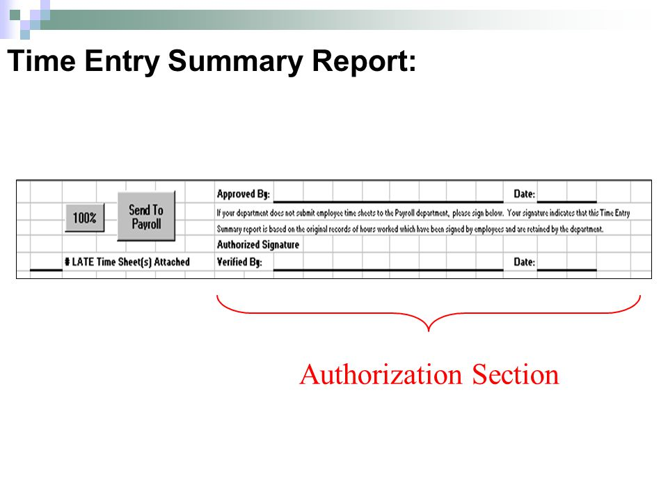 Authorization Section