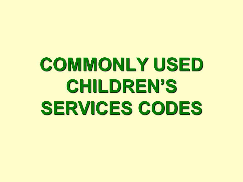 ServiceAction Day Sheet Code Eligibility Adoption Services Child in DSS custody, Court approves Plan of Adoption, TPR on Both parents or Relinquishmen
