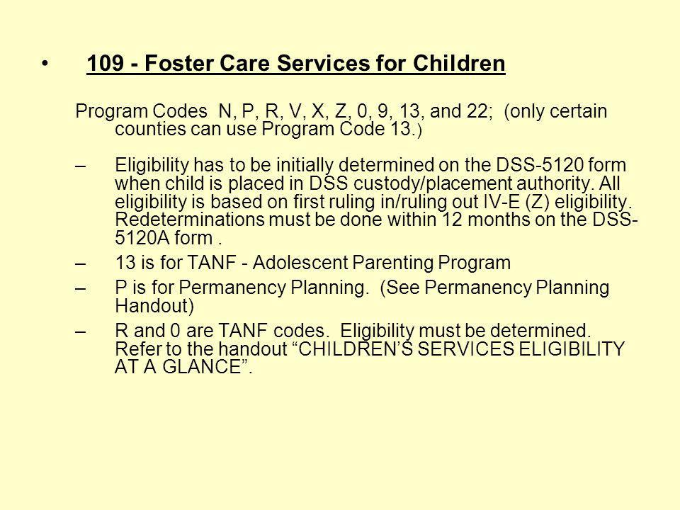 215 - Protective Services For Children – In-Home Services For Children Defined As Reasonable Candidates For Foster Care and Their Families Program Cod