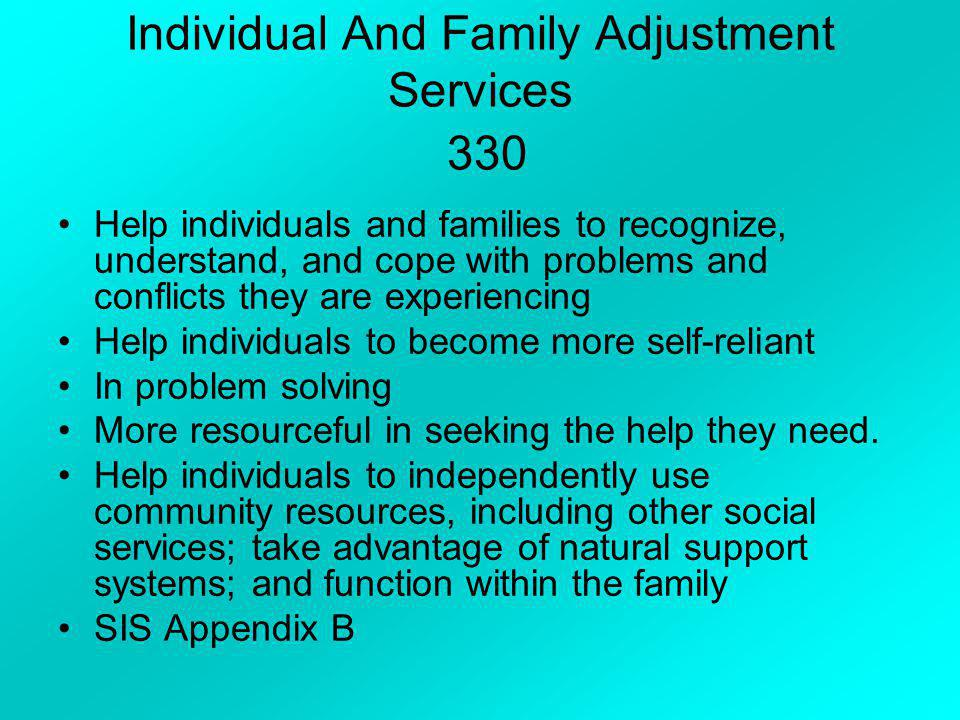 Health Support Services 110 Recognize and understand health problems Locate appropriate treatment Identify ways to pay for needed care and or services