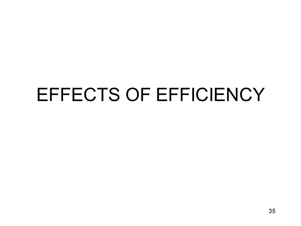35 EFFECTS OF EFFICIENCY