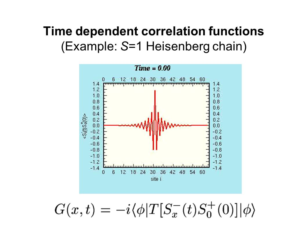 Time dependent correlation functions (Example: S=1 Heisenberg chain)