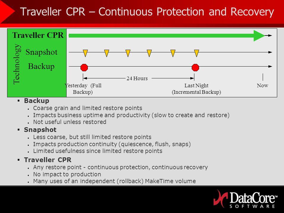 Traveller CPR MakeTime Productivity Traveller MakeTime Volumes optimize workflow Do more work in parallel – Timeshift.
