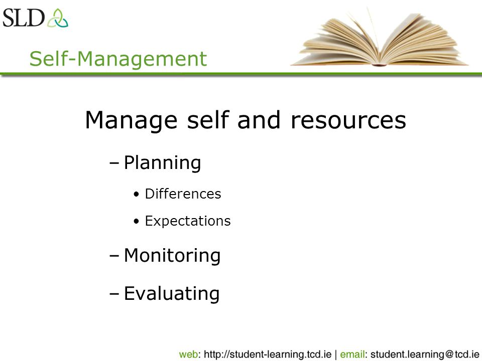 Planning Strategies Goal setting Good time management Controlling distractions Overcoming procrastination
