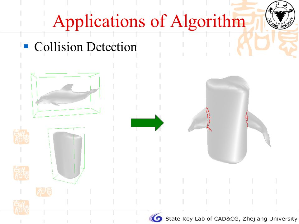 Applications of Algorithm Collision Detection
