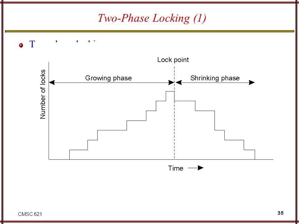 CMSC 621 35 Two-Phase Locking (1) Two-phase locking.