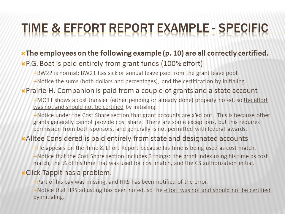 The employees on the following example (p. 10) are all correctly certified.