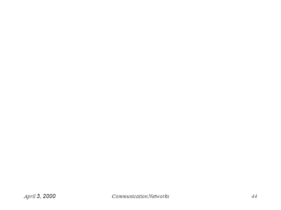 April 3, 2000Communication Networks44