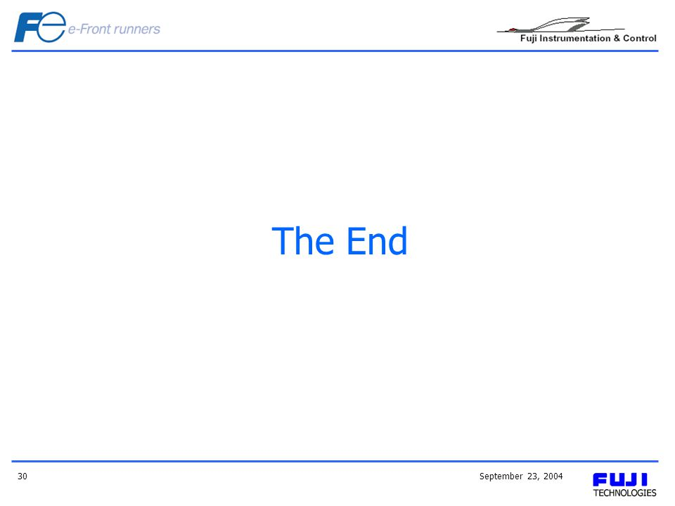 September 23, 200430 The End